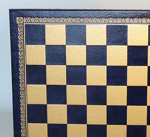 33  blau & Gold gepresst Leder Board