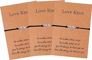 أساور Love Knot Best Friend Sisters لـ 2 3 أساور الصداقة BFF للنساء والفتيات لوصيفات العروس