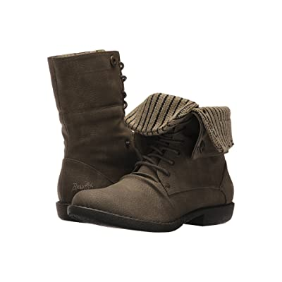 Blowfish Alexi (Olive Saddle Rock PU/Knit) Women