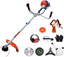 PROYAMA 42.7cc 2 in 1 Extreme Duty 2-Cycle Gas Dual Line Trimmer and Brush Cutter, Grass..