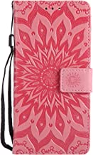 Xiaomi Case High Quality Flip Leather Case Sun Embossed Pattern Stent Wallet With Card Holder Protection Case Cover for Xiaomi 5X Pink