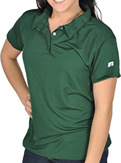 Russell Athletic Women's Dri-Power Micro Fiber Training Workout Polo Shirt - 8 colors