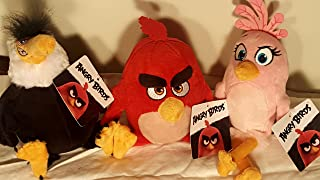 ANGRY BIRDS MOVIE bundle PLUSH CHARACTERS- includes RED, STELLA, and MIGHTY EAGLE plush figures