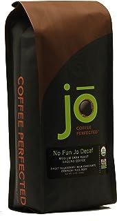 NO FUN JO DECAF: 12 oz, Organic Decaf Ground Coffee, Swiss Water Process, Fair Trade..