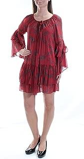 Free People Womens Mini Peasant Dress