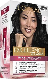 L'Oréal Paris Excellence Creme, 1 Black (100 Percent Grey Coverage)