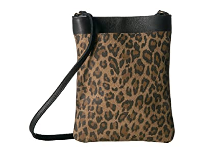 Leatherock Monroe Cell Pouch (Leopard Tan/Black) Cross Body Handbags