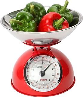 Youdoit Balanza de Cocina Vintage 5 kg - Rojo