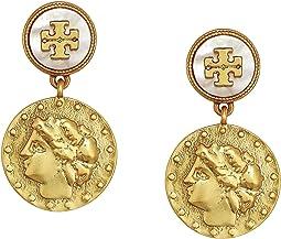 Coin Short Drop Earrings