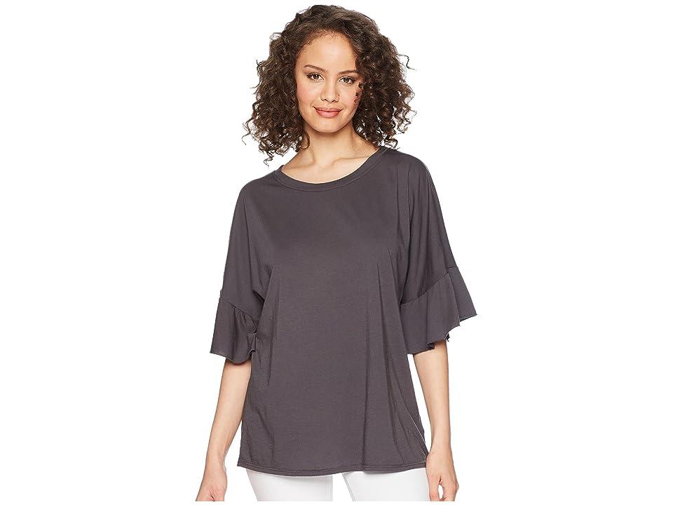 LAmade Erin Ruffle Sleeve Tee (Raven) Women's T Shirt