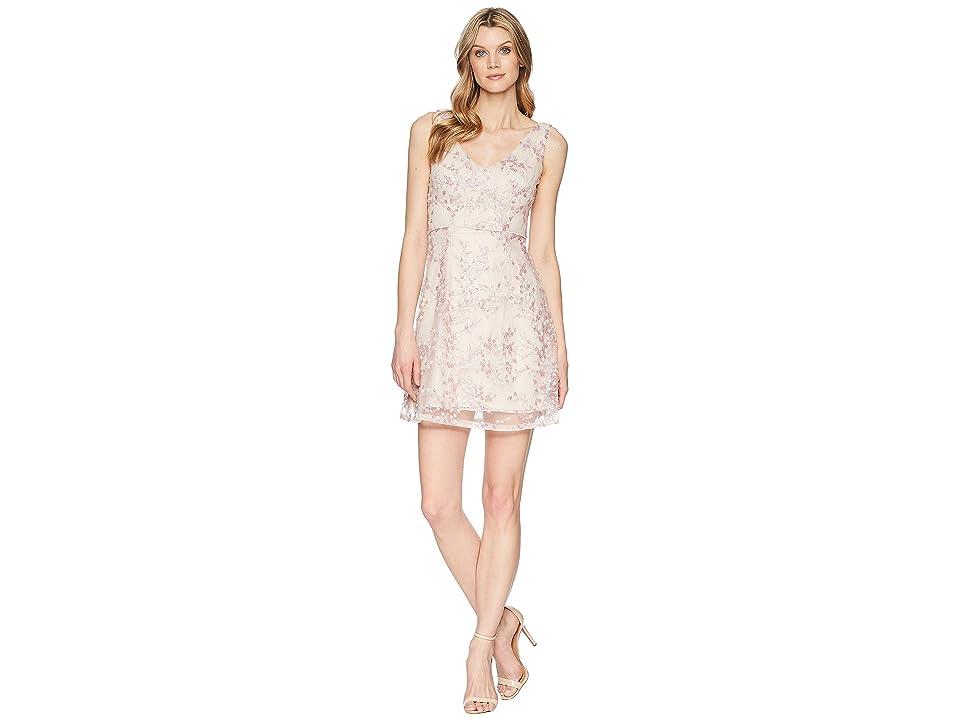 Adrianna Papell A-Line Short Dress (Pink) Women
