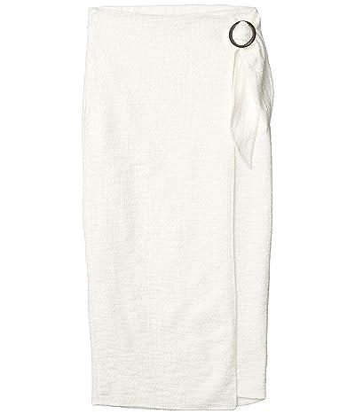 BB Dakota In The Ring Midi Slub Knit Wrap Skirt (Ivory) Women