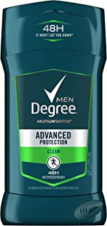 DEGREE MENS DEO Advanced Protection Antiperspirant Deodorant Invisible Solid, Clean, 2.7 oz (Pack of 6)