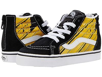 Vans Kids Sk8-Hi Zip (Infant/Toddler) ((Racers Edge) Black/Yellow Chrome) Boys Shoes