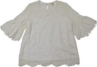 MONTEAU GIRL Girls Lace Bell Sleeve Tee