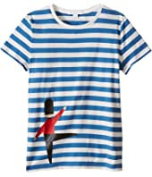 Burberry Kids - Acoustic Stripe Short Sleeve Tee (Little Kids/Big Kids)