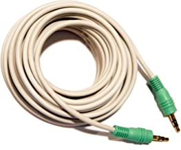 25 Foot 3.5mm Stereo Male to 3.5mm Stereo Male PC Audio Green Tip Cable
