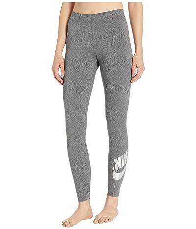 Nike NSW Leggings Leg-A-See Foil (Charcoal Heather/Metallic Silver) Women