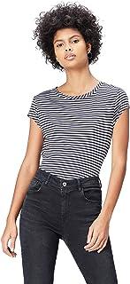 comprar comparacion Marca Amazon - find. Camiseta con Cuello Redondo Mujer