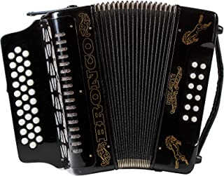 Rizatti Bronco RG31GB Diatonic Accordion - Black - Key G/C/F