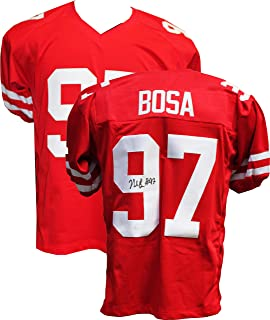 Authentic Nick Bosa Autographed Signed Red Jersey (JSA Hologram) San Francisco 49ers 1st Round Pick