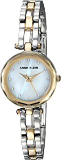Anne Klein Women's Swarovski Crystal Accented Two-Tone Open Bracelet Watch