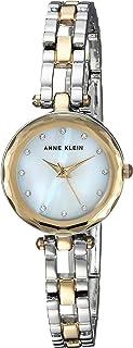 Anne Klein Women's  Swarovski Crystal Accented Two-Tone Open Bracelet Watch