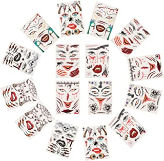 Beaupretty Halloween Gezicht Tattoo Tijdelijke 3D Nep Bloed Make Stickers Dode Wond Litteken Stitch Kostuum Maskerade Part...