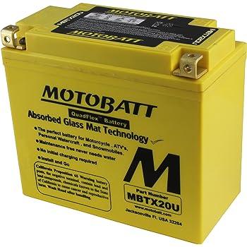 Motobatt MBTX12U Gel Motorcycle Battery Replacement for YTX12-BS