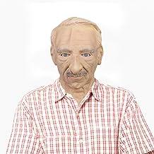 The Elder Old Man Headgear R/éaliste Silicone Mascarade Pleine T/ête Tricky Props Masque de vieil homme dHalloween Coiffe dHalloween R/éel Horreur Humaine Perruque Accessoires de F/ête Coiffure