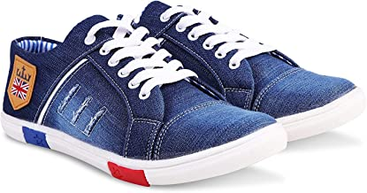Rockfield Men's Blue Denim Sneakers Casual Shoes