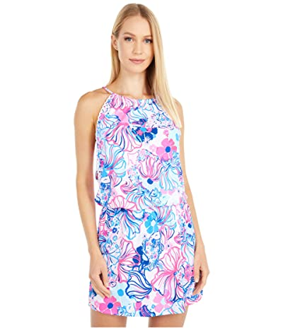 Lilly Pulitzer Gianni Skort Romper (Prosecco Pink Make A Splash) Women