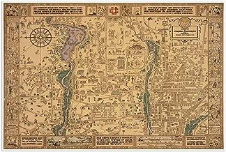 Antiguos Maps Cornell University - Campus MAP Circa 1928 - Measures 36