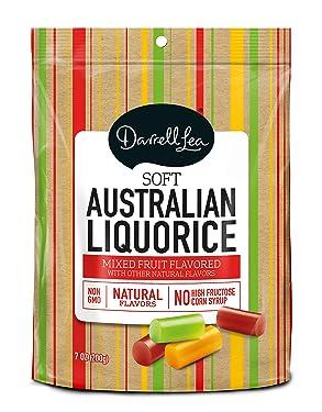 Darrell Lea Mixed Flavor Soft Australian Made Licorice 7oz Bag - NON-GMO, NO HFCS, Vegetarian & Kosher - America's #1 Soft Eating Licorice Brand!