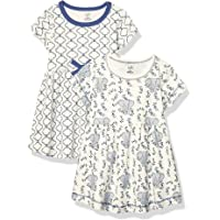 Deals on Touched by Nature Girls Baby Organic Cotton Dresses 2-Pcs