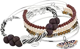 Alex and Ani - Moth Bracelet Set of 5