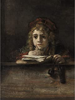 Rembrandt Titus At His Desk Extra Large Art Print Wall Mural Poster Premium XL 大アート壁ポスター