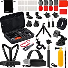 Luxebell Accessories Kit for AKASO EK5000 EK7000 4K WiFi DJI OSMO Action Camera Gopro Hero 8 7 6 5 Max Fusion Session 5 Black Sliver Hero 4/3/2