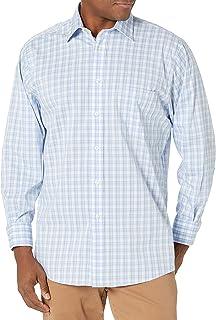 CHAPS Mens Dress Shirts Regular Fit Stretch Spread Collar Check