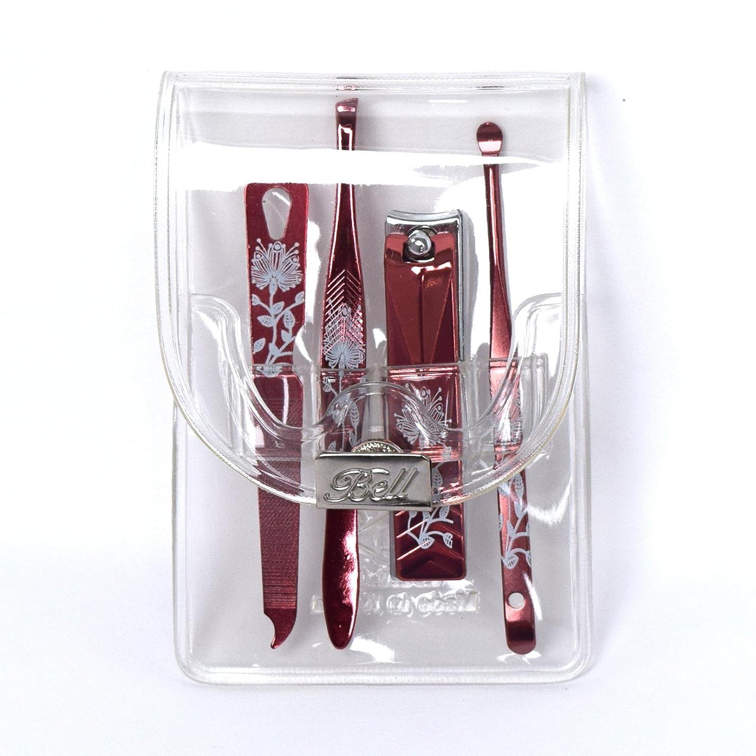 火山の機械的にリサイクルするBELL Manicure Sets BM-991C ポータブル爪ケアセットトラベル爪切りセットステンレス鋼の失速構成透明高周波ケースPortable Nail Clippers Nail Care Set