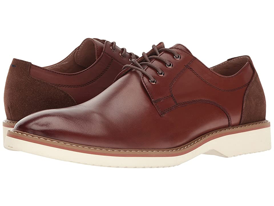 Florsheim Union Plain Toe Oxford (Brown Smooth/Brown Suede) Men