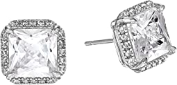 Save The Date Pave Princess Cut Stud Earrings