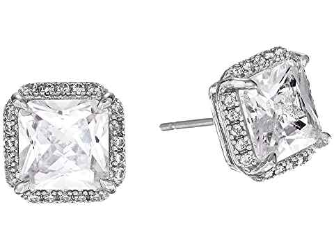 Kate Spade New York Save The Date Pave Princess Cut Stud Earrings