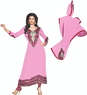 Florence Women's georgette straight Salwar Suit Set (SB-1328-Aug2019_ Light Pink_ One Size)