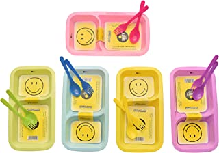 Kids Trends Smiley Maggi Plates for,Return Gifts for Kids Birthday Party (Pack of 12)