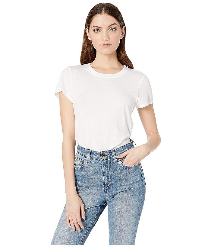Splendid  Abbie Short Sleeve Modal Jersey Crew Tee (White) Womens T Shirt