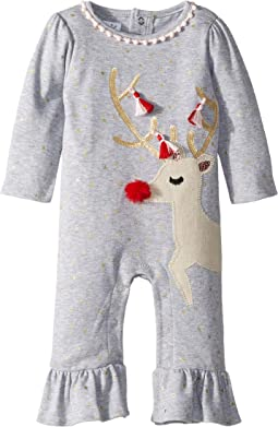 Christmas Reindeer Ruffle One-Piece Playwear (Infant)