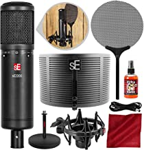 sE Electronics sE2200 Studio Condenser Cardioid Microphone with RF-X Reflection Filter and Platinum Accessory Bundle