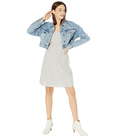 COTTON ON Teen Angie Chopped Denim Jacket (New Mid Blue) Girl