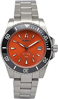 Aquacy 1769 HEI Matau Men's Automatic 300M Orange Dive Watch 1769.O.B.S Bracelet Bands Screw Down Crown Limited Edition
